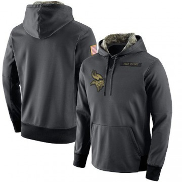 Men's Nike Minnesota Vikings Anthracite Salute to Service Player Performance Hoodie -