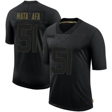 Men's Nike Minnesota Vikings Hercules Mata'afa Black 2020 Salute To Service Jersey - Limited