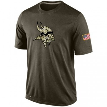 Men's Nike Minnesota Vikings Olive Salute To Service KO Performance Dri-FIT T-Shirt -