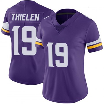 Women's Nike Minnesota Vikings Adam Thielen Purple 100th Vapor Jersey - Limited