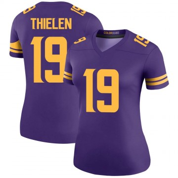 Women's Nike Minnesota Vikings Adam Thielen Purple Color Rush Jersey - Legend