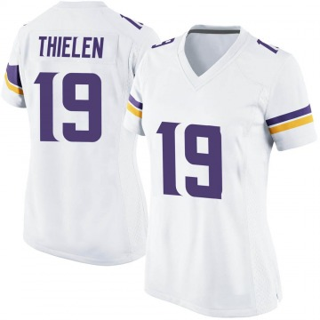 Women's Nike Minnesota Vikings Adam Thielen White Jersey - Game