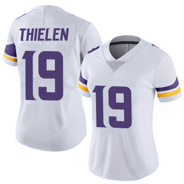 Women's Nike Minnesota Vikings Adam Thielen White Vapor Untouchable Jersey - Limited