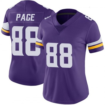 Women's Nike Minnesota Vikings Alan Page Purple 100th Vapor Jersey - Limited