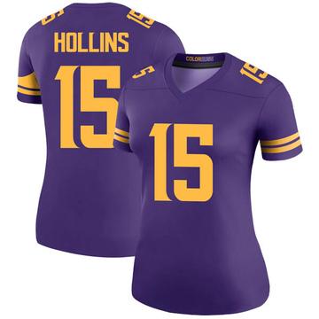 Women's Nike Minnesota Vikings Alexander Hollins Purple Color Rush Jersey - Legend