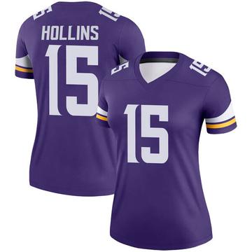 Women's Nike Minnesota Vikings Alexander Hollins Purple Jersey - Legend