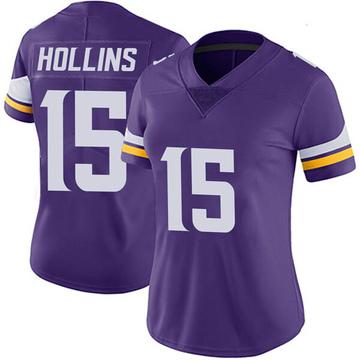 Women's Nike Minnesota Vikings Alexander Hollins Purple Team Color Vapor Untouchable Jersey - Limited