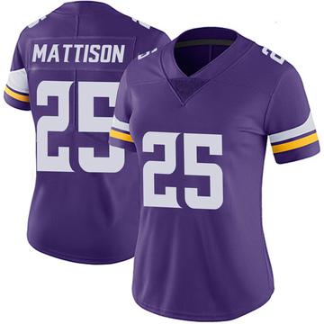 Women's Nike Minnesota Vikings Alexander Mattison Purple 100th Vapor Jersey - Limited