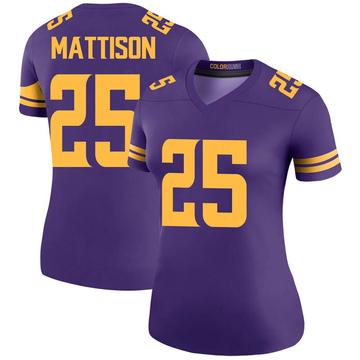 Women's Nike Minnesota Vikings Alexander Mattison Purple Color Rush Jersey - Legend