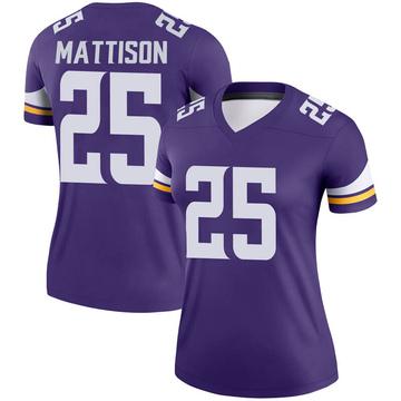 Women's Nike Minnesota Vikings Alexander Mattison Purple Jersey - Legend