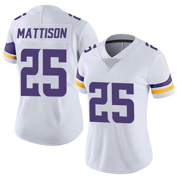 Women's Nike Minnesota Vikings Alexander Mattison White Vapor Untouchable Jersey - Limited