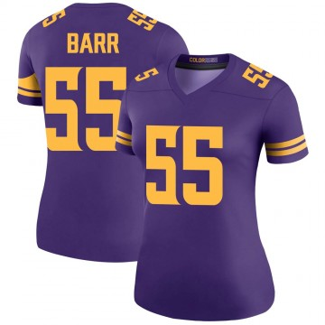 Women's Nike Minnesota Vikings Anthony Barr Purple Color Rush Jersey - Legend