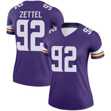 Women's Nike Minnesota Vikings Anthony Zettel Purple Jersey - Legend