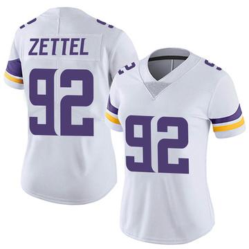 Women's Nike Minnesota Vikings Anthony Zettel White Vapor Untouchable Jersey - Limited