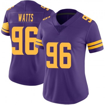 Women's Nike Minnesota Vikings Armon Watts Purple Color Rush Jersey - Limited