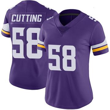 Women's Nike Minnesota Vikings Austin Cutting Purple 100th Vapor Jersey - Limited