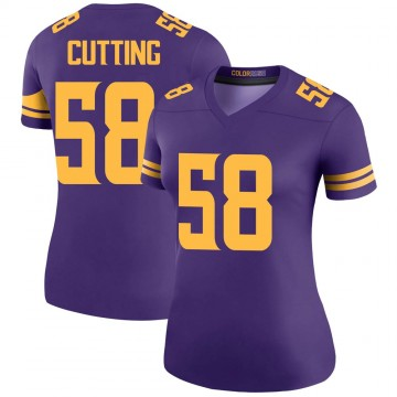 Women's Nike Minnesota Vikings Austin Cutting Purple Color Rush Jersey - Legend