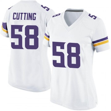 Women's Nike Minnesota Vikings Austin Cutting White Jersey - Game