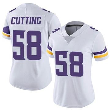 Women's Nike Minnesota Vikings Austin Cutting White Vapor Untouchable Jersey - Limited