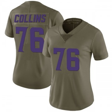 Women's Nike Minnesota Vikings Aviante Collins Green 2017 Salute to Service Jersey - Limited