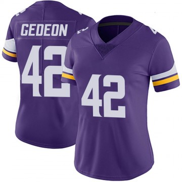 Women's Nike Minnesota Vikings Ben Gedeon Purple 100th Vapor Jersey - Limited