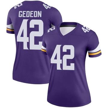 Women's Nike Minnesota Vikings Ben Gedeon Purple Jersey - Legend