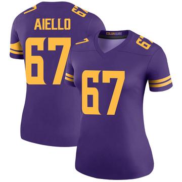 Women's Nike Minnesota Vikings Brady Aiello Purple Color Rush Jersey - Legend