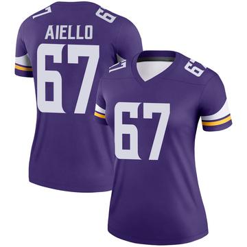 Women's Nike Minnesota Vikings Brady Aiello Purple Jersey - Legend