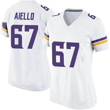 Women's Nike Minnesota Vikings Brady Aiello White Jersey - Game