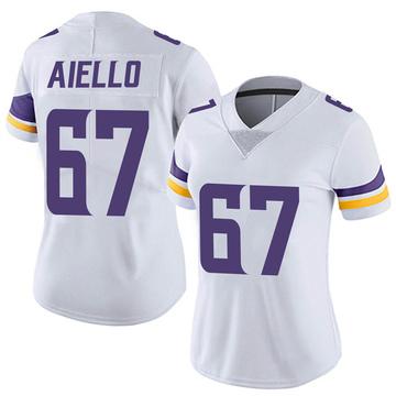 Women's Nike Minnesota Vikings Brady Aiello White Vapor Untouchable Jersey - Limited