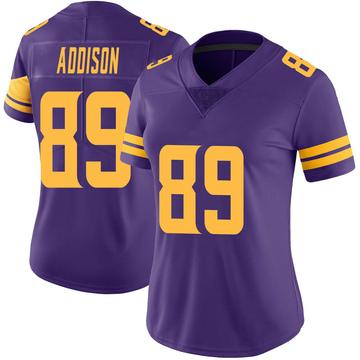 Women's Nike Minnesota Vikings Bralon Addison Purple Color Rush Jersey - Limited
