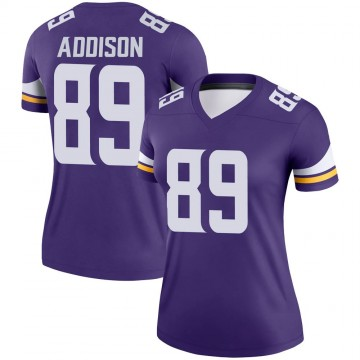 Women's Nike Minnesota Vikings Bralon Addison Purple Jersey - Legend