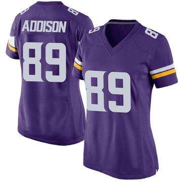 Women's Nike Minnesota Vikings Bralon Addison Purple Team Color Jersey - Game