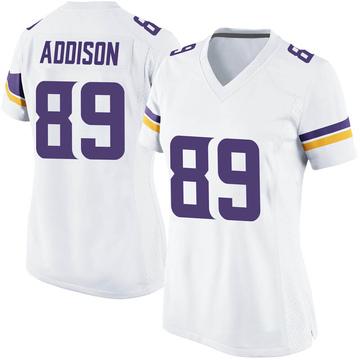 Women's Nike Minnesota Vikings Bralon Addison White Jersey - Game
