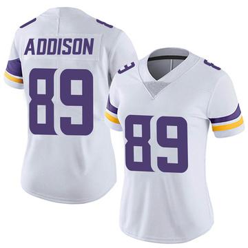 Women's Nike Minnesota Vikings Bralon Addison White Vapor Untouchable Jersey - Limited