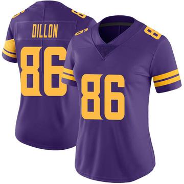 Women's Nike Minnesota Vikings Brandon Dillon Purple Color Rush Jersey - Limited