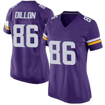 Women's Nike Minnesota Vikings Brandon Dillon Purple Team Color Jersey - Game