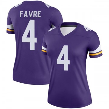 Women's Nike Minnesota Vikings Brett Favre Purple Jersey - Legend