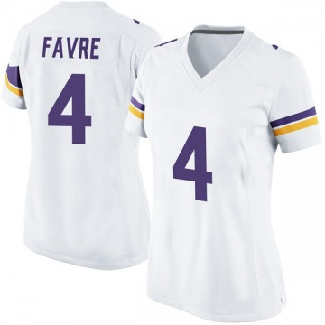Women's Nike Minnesota Vikings Brett Favre White Jersey - Game
