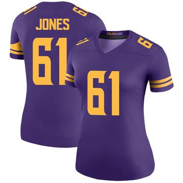 Women's Nike Minnesota Vikings Brett Jones Purple Color Rush Jersey - Legend