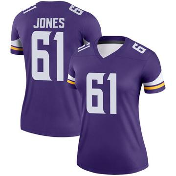 Women's Nike Minnesota Vikings Brett Jones Purple Jersey - Legend