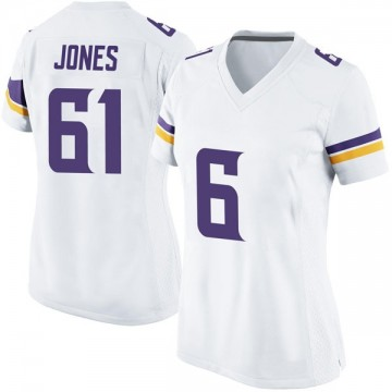 Women's Nike Minnesota Vikings Brett Jones White Jersey - Game