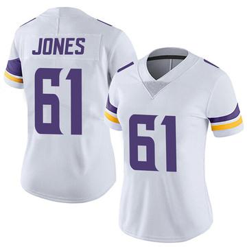 Women's Nike Minnesota Vikings Brett Jones White Vapor Untouchable Jersey - Limited