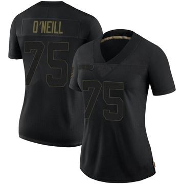 Women's Nike Minnesota Vikings Brian O'Neill Black 2020 Salute To Service Jersey - Limited