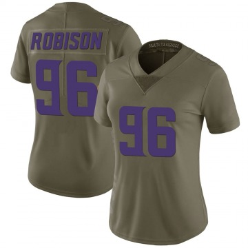 Women's Nike Minnesota Vikings Brian Robison Green 2017 Salute to Service Jersey - Limited