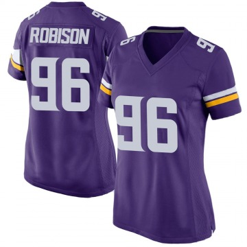 Women's Nike Minnesota Vikings Brian Robison Purple Team Color Jersey - Game