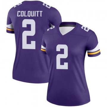 Women's Nike Minnesota Vikings Britton Colquitt Purple Jersey - Legend