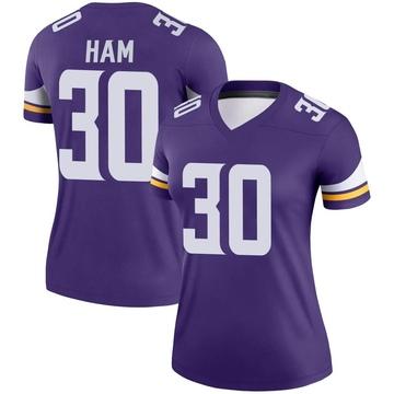 Women's Nike Minnesota Vikings C.J. Ham Purple Jersey - Legend