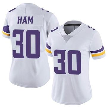 Women's Nike Minnesota Vikings C.J. Ham White Vapor Untouchable Jersey - Limited