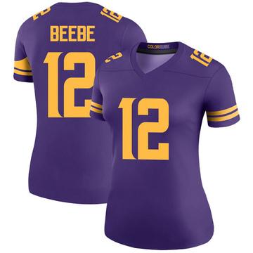 Women's Nike Minnesota Vikings Chad Beebe Purple Color Rush Jersey - Legend